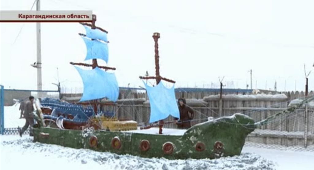 Пиратское судно продумано до мелочей / Скриншот видео телеканала КТК