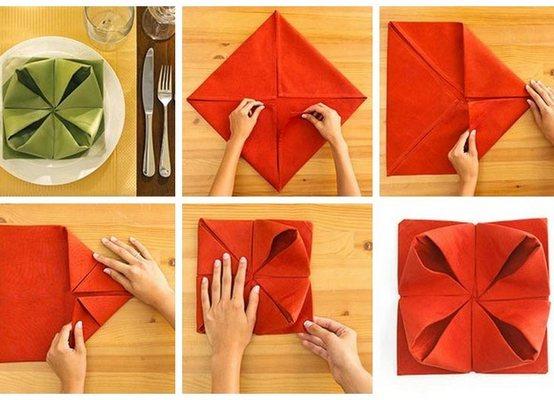 Как сделать салфетки на стол из бумаги 129